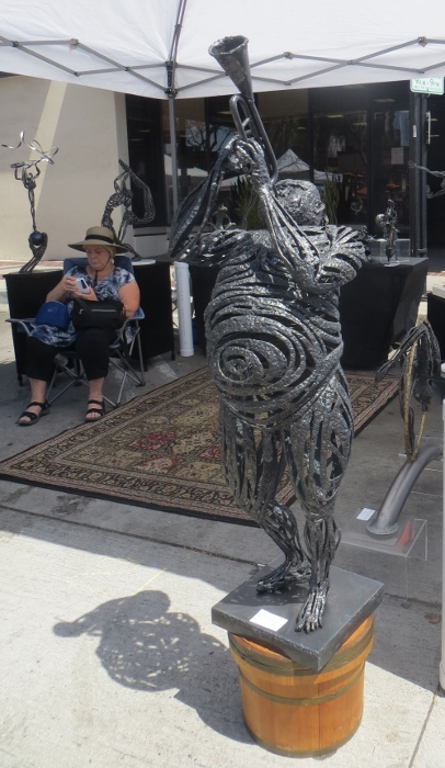 Jazz man sculpture