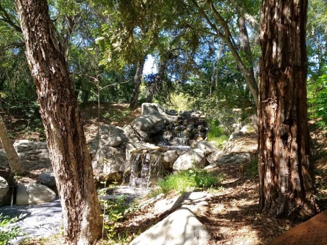 waterfalls Descanso Gardens