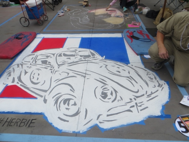 Herbie Chalk art Pasadena