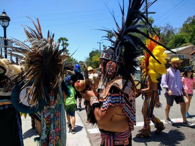 Native American dancers Lummis Days