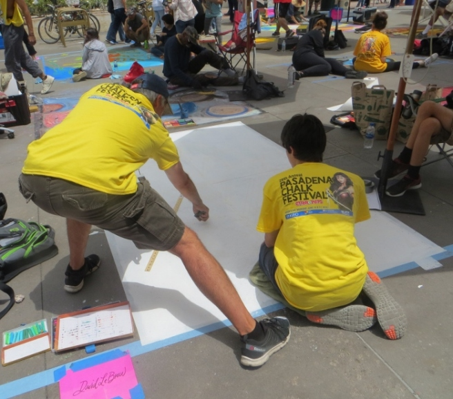 Starting design Chalk Festival Pasadena 2018