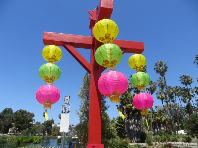 Chinese lanterns lotus festival echo park los angeles