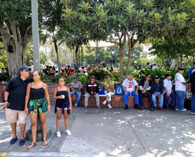 crowd of people in La Placita LA City Pix