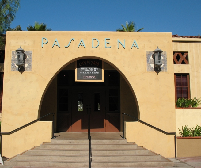 Old trolley station in Pasadena at the Del Mar Station