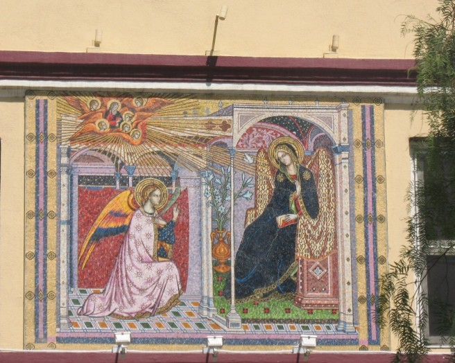 The Annunciation on La Placita church LA City Pix