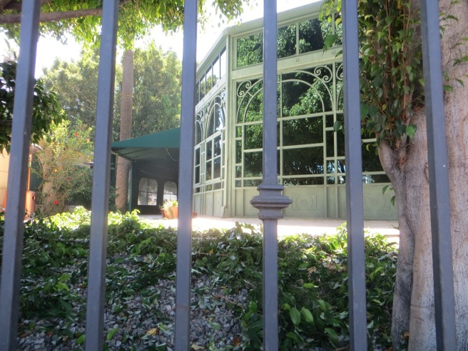bars around Scientology Celebrity Center LA City Pix