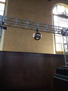 Disco ball Union Station