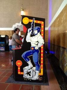 Flirty muscle art arcade game LA City Pix