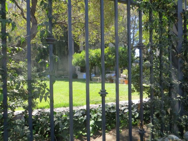 garden terrace at Scientology Celebrity Center LA City Pix