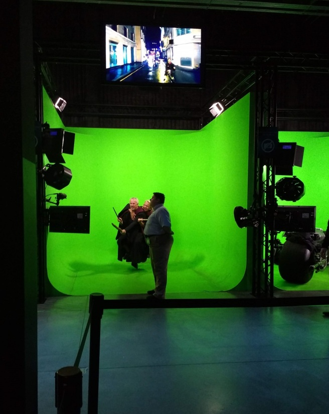 Green screen at Warner Studios