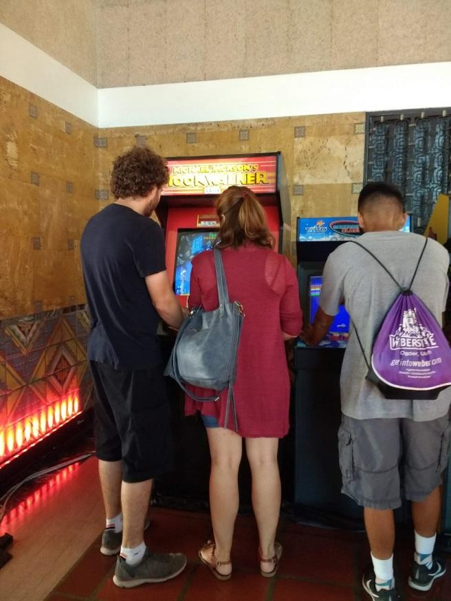 Michael Jackson arcade game Union Station