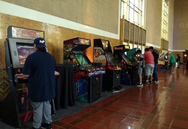 Retrocade arcade games Union Station LACity Pix