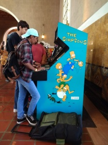 Simpsons arcade game Retrocade Union Station