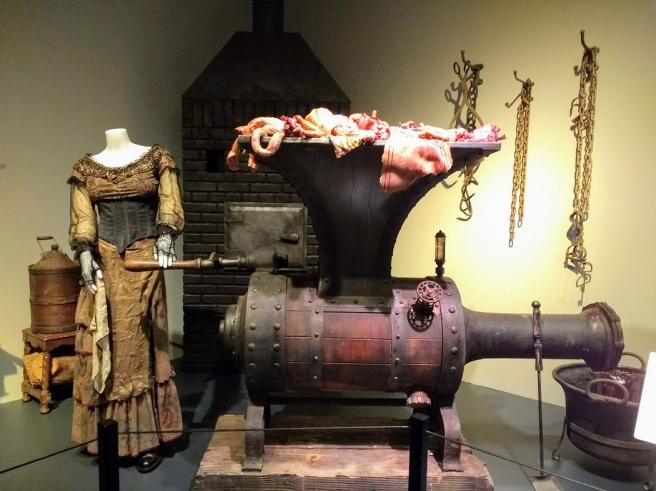Sweeney Todd set and costume WArner Studios museum