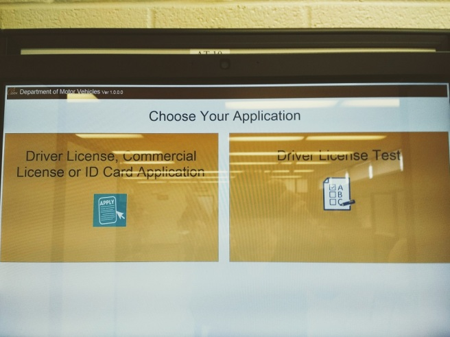 The touchscreen drivers license test
