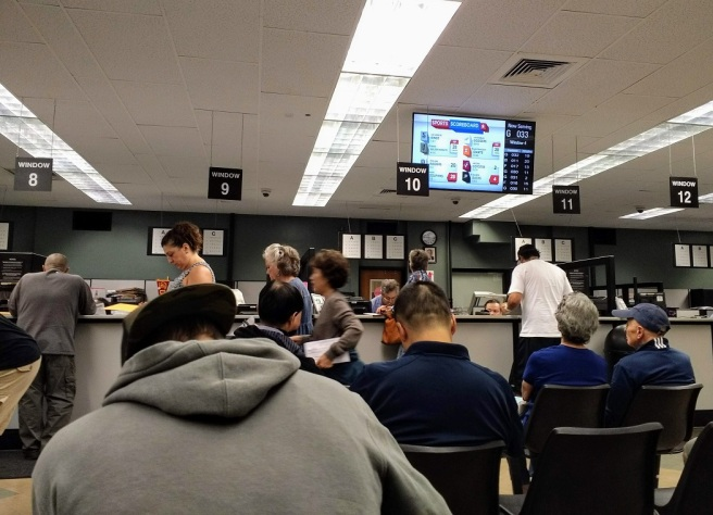 The waiting continues at the DMV