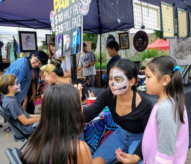 Day of Dead face painting LA City Pix