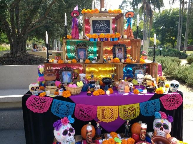 Dia de los Muertos altar for abuelita