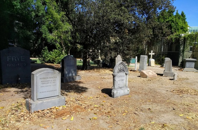 Fake cemetary on Warner Bros. Studio lot