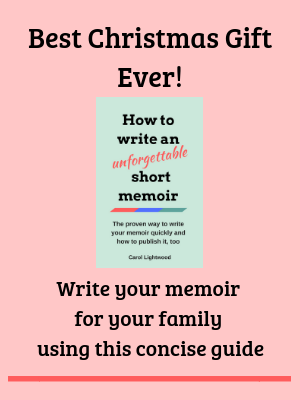 Memoir book cover Best Christmas Gift Ever! ad