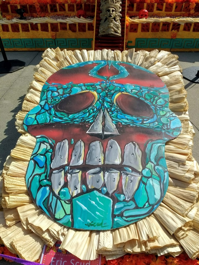 Painted skull by Eric Scuds