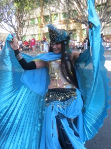 Belly dancer 2018 Doo Dah parade