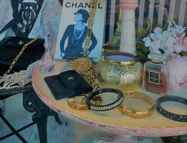 Coco Chanel jewelry on Day of the Dead altar in Pasadena