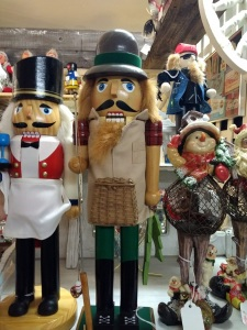 Nutcrackers in Antique Mall across from Mission Inn