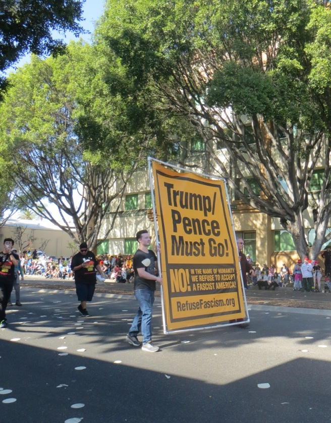 Trump Pence must go Doo Dah parade 2018