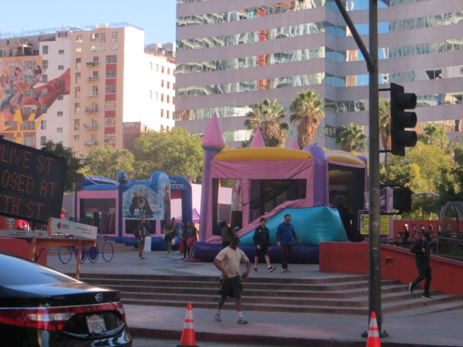 entry to Pershing Square downtown Los Angles